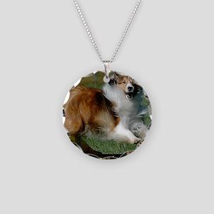 Shetland Sheepdog Cooper Necklace Circle Charm