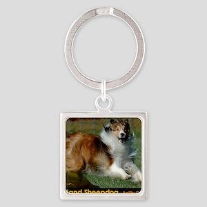 Shetland Sheepdog Cooper Square Keychain