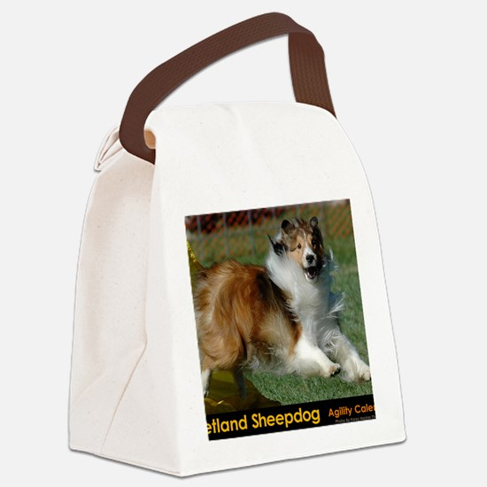 Shetland Sheepdog Cooper Canvas Lunch Bag