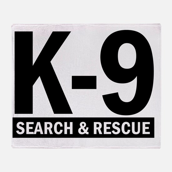 K-9 SAR Throw Blanket