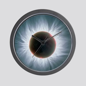 Total solar eclipse with corona Wall Clock