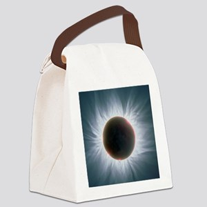 Total solar eclipse with corona Canvas Lunch Bag