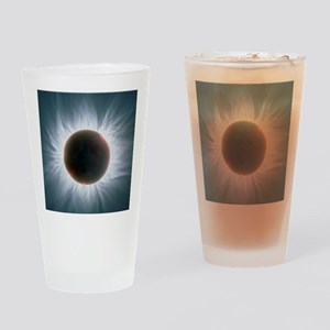 Total solar eclipse with corona Drinking Glass
