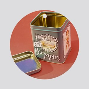 Tin box Round Ornament