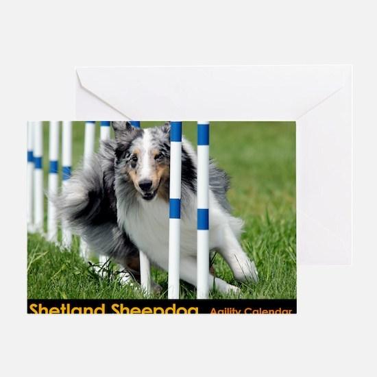 Shetland Sheepdog Blast Greeting Card