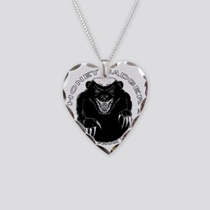 Honey badger Necklace Heart Charm