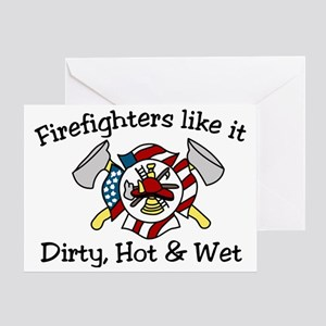 Firefighters Like It Greeting Card
