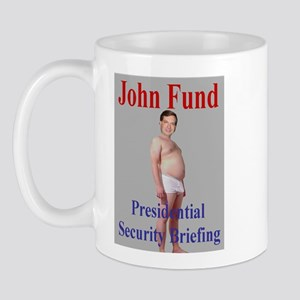 John Fund gets Briefed Mug