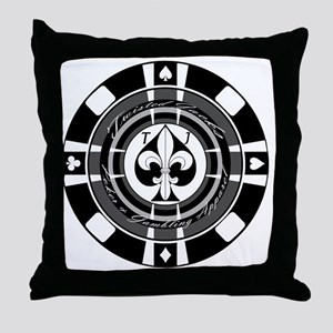 Twisted Chip of Spades Throw Pillow