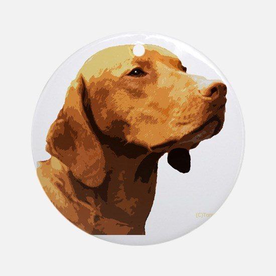 Vizsla Round Ornament