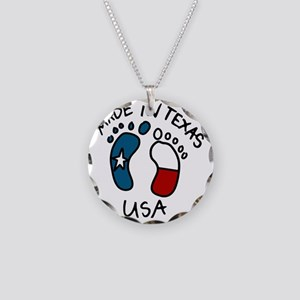 Made In Texas Necklace Circle Charm