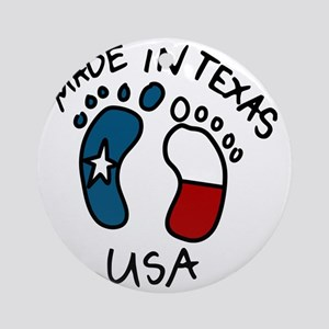 Made In Texas Round Ornament