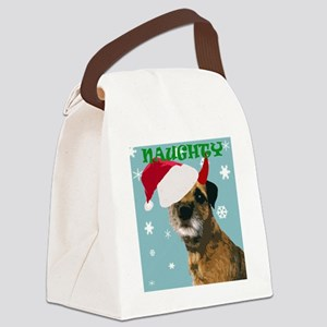 Naughty Border Terrier Canvas Lunch Bag