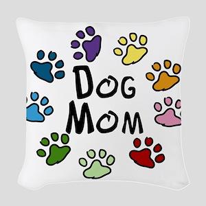 Dog Mom Woven Throw Pillow