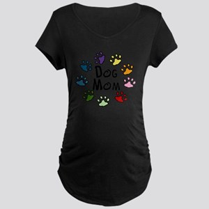 Dog Mom Maternity Dark T-Shirt