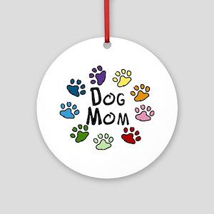 Dog Mom Round Ornament