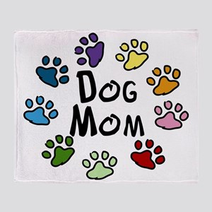 Dog Mom Throw Blanket