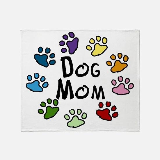 Dog Mom Throw Blanket