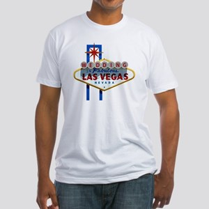 Wedding In Las Vegas Fitted T-Shirt