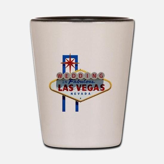 Wedding In Las Vegas Shot Glass
