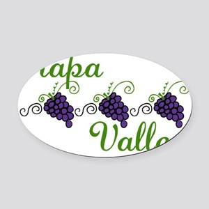 Napa Valley Oval Car Magnet