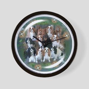 Cavalier King Charles Spaniel Group Wall Clock