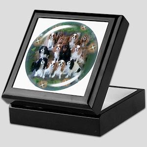 Cavalier King Charles Spaniel Group Keepsake Box
