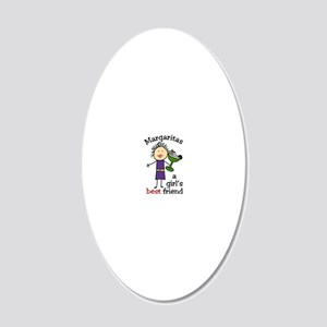 Margaritas 20x12 Oval Wall Decal