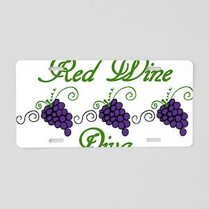 Red Wine Diva Aluminum License Plate