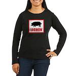 Lechon Women's Long Sleeve Dark T-Shirt