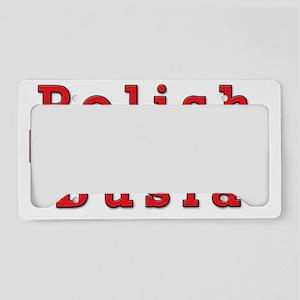 Polish Busia Eagles License Plate Holder