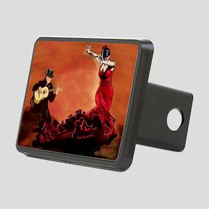 Flamenco Dancer and Guitar Rectangular Hitch Cover