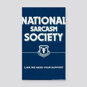National _ sarcasm _ Society Rectangle Car Magnet