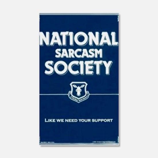 National _ sarcasm _ Society Wall Decal