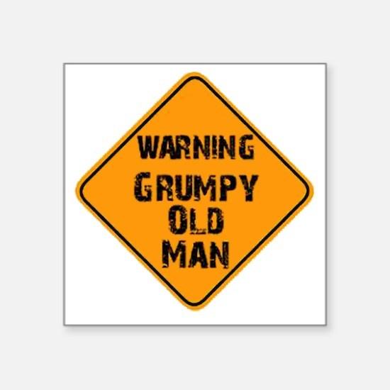 "the _ grumpy _ old _ man Square Sticker 3"" x 3"""