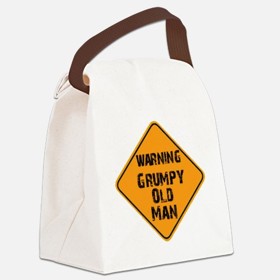 the _ grumpy _ old _ man Canvas Lunch Bag
