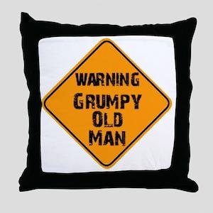 the _ grumpy _ old _ man Throw Pillow