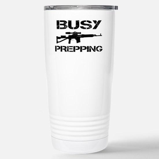 Busy Prepping Gun Stainless Steel Travel Mug