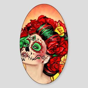 Muertos Amor Sticker (Oval)