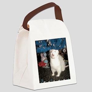 Caroling Ferret Canvas Lunch Bag