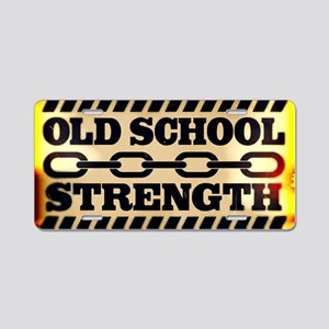Old School Strength Aluminum License Plate