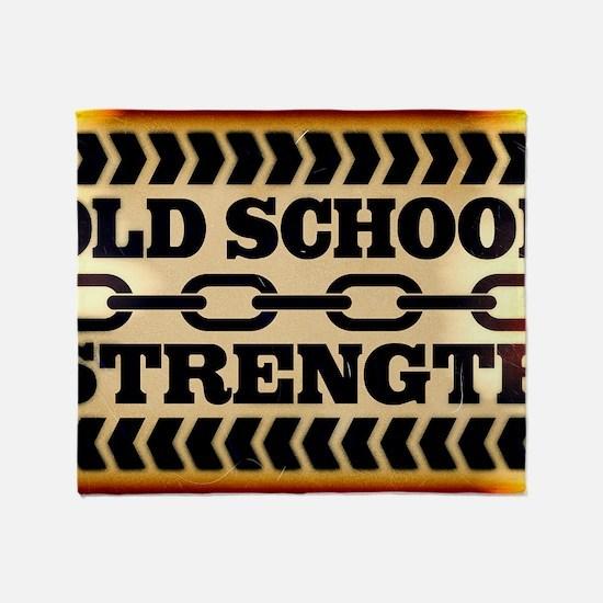 Old School Strength Throw Blanket