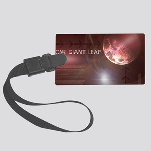 One Giant Leap Large Luggage Tag