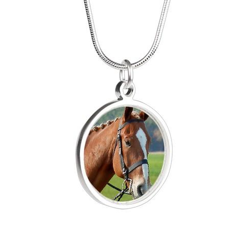 Goldie Whip Silver Round Necklace