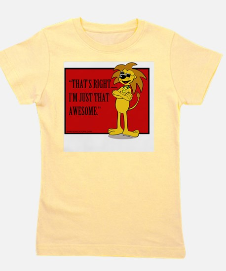 Awesome TC the Lion Girl's Tee