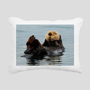 MP_Otter_12 Rectangular Canvas Pillow