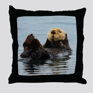 MP_Otter_12 Throw Pillow