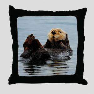 MP_Otter_12 Throw Pillow