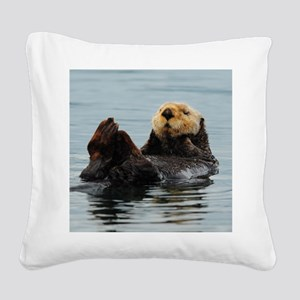MP_Otter_12 Square Canvas Pillow