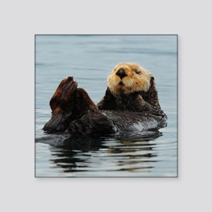 "MP_Otter_12 Square Sticker 3"" x 3"""